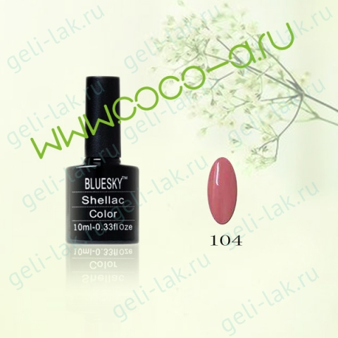 Shellac BLUESKY Color цвет 104#