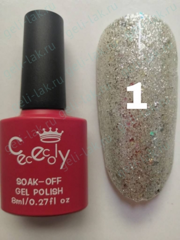 CECECOLY.GEI Silver Diamond Gel  цвет №1  арт. cececoIy