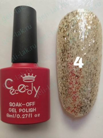 CECECOLY.GEI Silver Diamond Gel цвет №4  арт. cececoIy