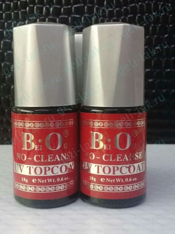 B.O  NO-CLEANSE      UV  TOPCOAT арт. 18g  eNetwt.0.6 oz.